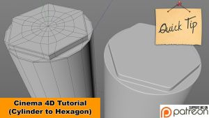 Cylinder to Hexagon (Cinema 4D Tutorial) by NIKOMEDIA