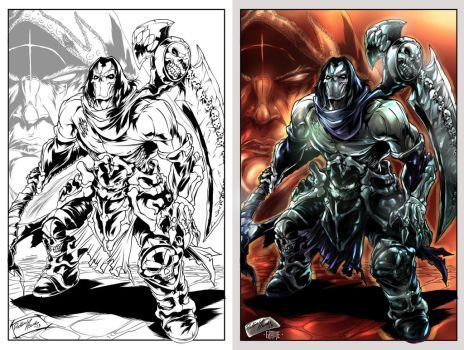 Darksiders color by johnnymorbius
