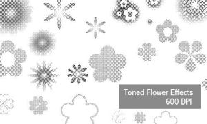 Flower Effects - 600 DPI by screentones