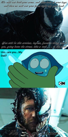 Venom is about to eat Aquamarine by Negaboss2000