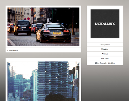 2Bloc Tumblr Theme by TheUltraLinx