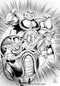 Freeza, Dodoria and Zarbon by Savedra