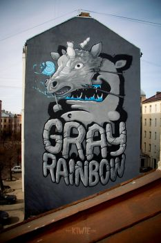 GRAY RAINBOW by KIWIE-FAT-MONSTER