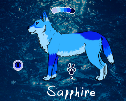 Sapphire Reference by Bloodshadewolves