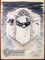 Inktober Day 19 - Under Wraps by Dra-Aluxe