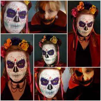 Halloween Costume - Sugar Skull makeup by Harmony1965