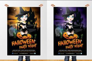 Witch Cemetery - Halloween Flyer by odindesign