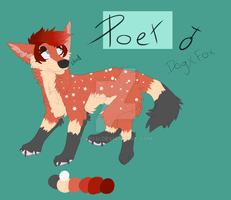 Poet ref sheet by Uki-U