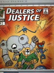 Dealers of Justice comic mockup by AtomicTerrier