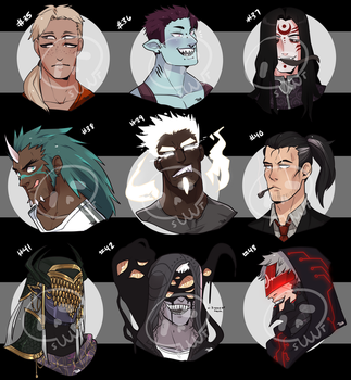 [Adopts] Busts VI    CLOSED    USD by Clover1