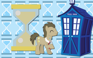 Dr Whooves and Tardis WP by AliceHumanSacrifice0