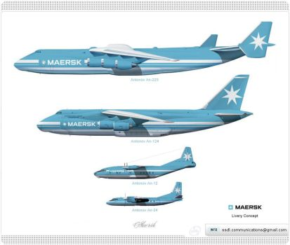 Maersk Livery concept by SuperstarDeLuxe