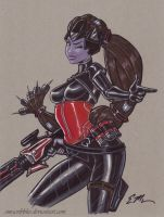 Widowmaker Noire by em-scribbles
