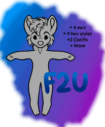 Small Anthro Dog F2U Base by HunterShadowWolf