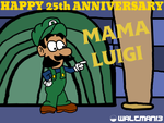 Mama Luigi 25th Anniversary by Waltman13