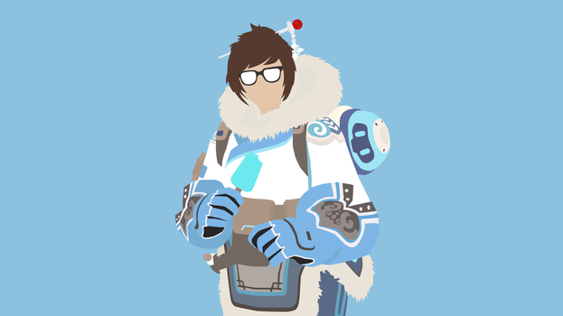 Mei Vector Art Wallpaper by WalidSodki