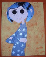 OOAK Original Coraline Star Shirt Painting by MikeysGrrrl