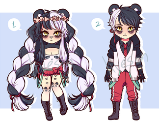 panda twins paypal/points auction CLOSED by sonreiv