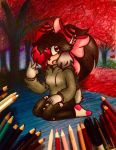 In the Autumn / Commission by ChristinaDragon
