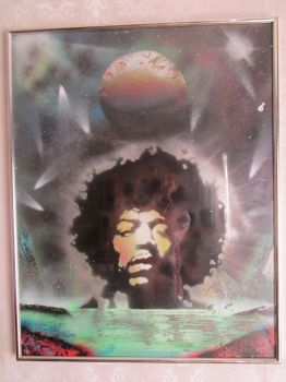 hendrix spray can speed painting by darrenTyrie