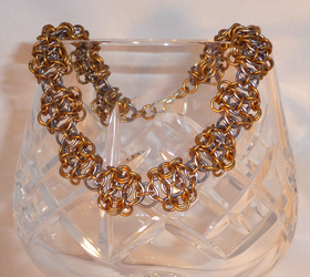 Helm Weave Chainmaille Bracelet by Entorien