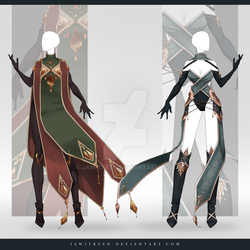 (CLOSED) Adoptable Outfit Auction 302-303 by JawitReen