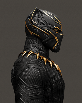 Black Panther by PhotoshopIsMyKung-Fu