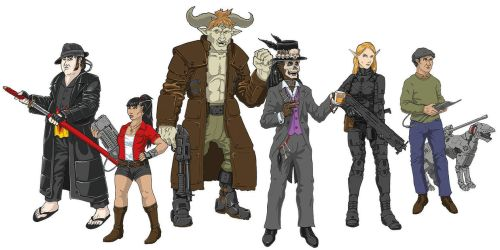 Shadowrun Crew Colored by Saevus