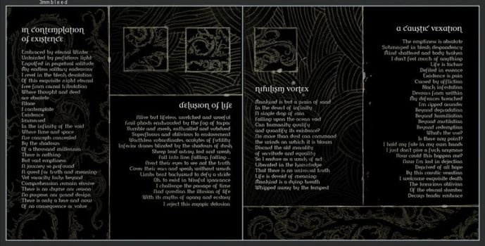 De Profundis Artwork - BOOKLET by narcoloth