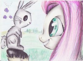 Fluttershy and Angel by 1Vladislav