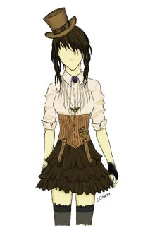 Victorian Steampunk Outfit by disasterbynature