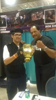 Holding the Champion Belt with a Legend by wolf2014