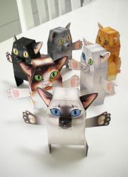 Kikai Paper Toys :: Pretty Kitties by blua
