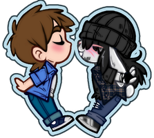 Furthia High Campy and Kale Chibi Kissu by JasmineAlexandra