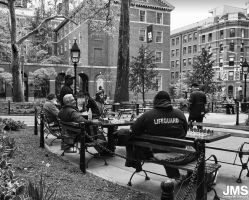 Chessmen Washington Square Park by steeber
