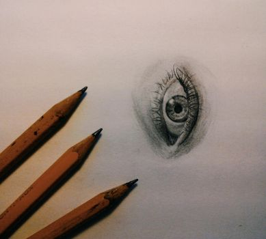 Eye drawing practise by Dewilish