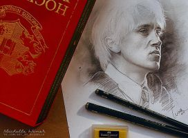 Draco Malfoy sketch by Michelle-Winer