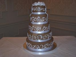 5-Tier Wedding Cake by veedeb