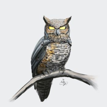 Augmented owl 01 by masterofspirits777