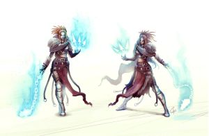 Blue Ethereal Weapons Lady by slipled