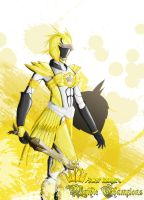 Power Ranger: Mythic Champion Yellow Owl by the-newKid