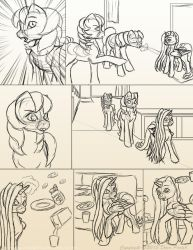 Chapter 12 page 2 sketch by FlyingPony