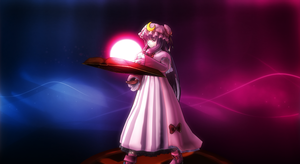 Smash Bros Trophy Patchouli Knowledge 16:9 by headstert