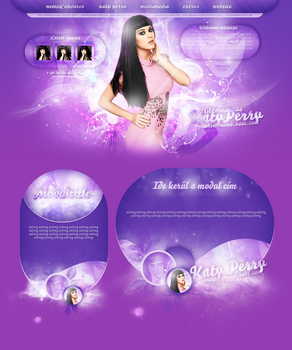 Katy Perry Premade Layout by cherryproductionsorg