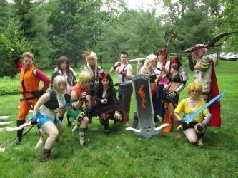 Final Fantasy Genderbend Group by FunnyFayeValentine