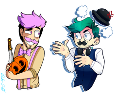 Wilford And Dapper [COLLAB] by Rocker2point0