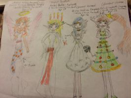 Christmas Angel and Fun Elves by Amphitrite7