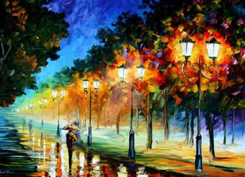 Perspective Of Night by Leonid Afremov