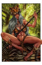 Prymal: The Jungle Warrior metal card art by ericalannelson