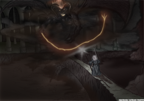 Gandalf VS The Balrog by Rockatansky105